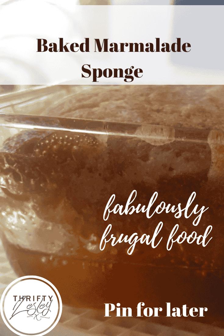 baked marmalade sponge