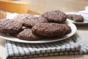 chocolate oaty biscuits