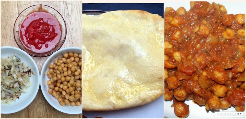 chole masala collage of method