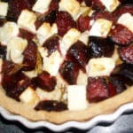 Beetroot & Feta Tart. As good cold in a packed lunch as it is hot for dinner