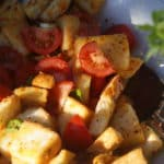 Panzanella with lovely sun ripened tomatoes.