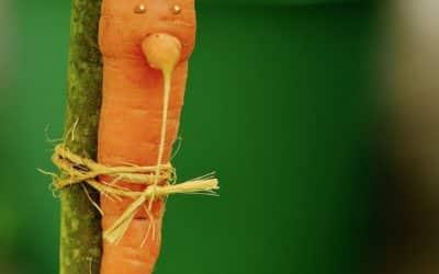 Carrot Hummus, creamy with tahini