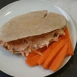 Pitta with Carrot, Lemon & Soft Cheese