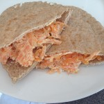 pitta, carrot, lemon, soft cheese