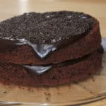 Chocolate Fudge Cake, made with / out eggs