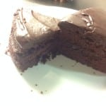 chocolate fudge cake, comparing versions made with egg and no egg