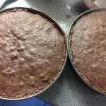 Baked choc fudge cake