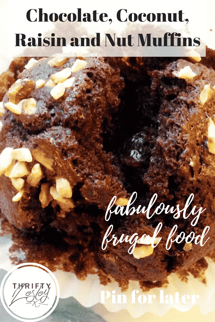 Chocolate, Coconut, Raisin and Nut Muffins