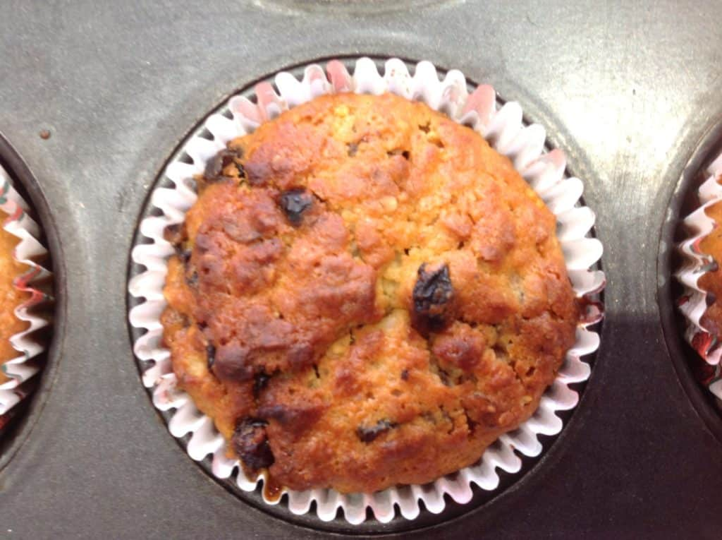 Mincemeat and oat muffin