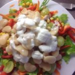 Butter bean, pepper and carrot salad, with a lemon juice and coconut dressing, 84p