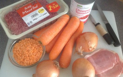 Meal plan 7 – Beef Ragu for 3 different dishes
