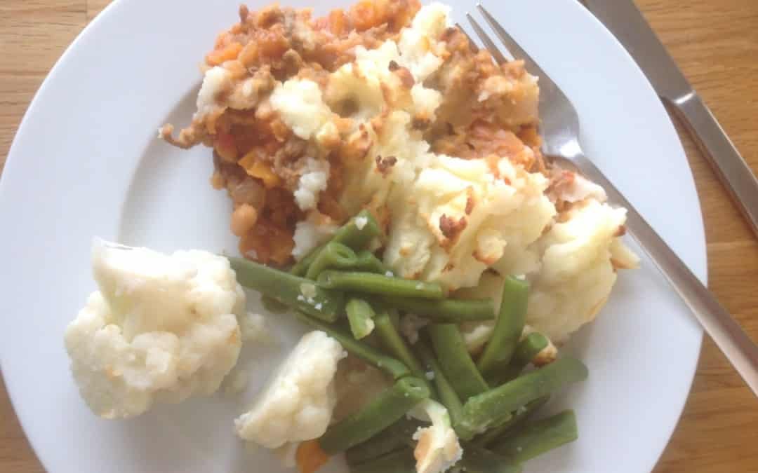 Meal Plan 7 – Cottage pie, 58p a portion
