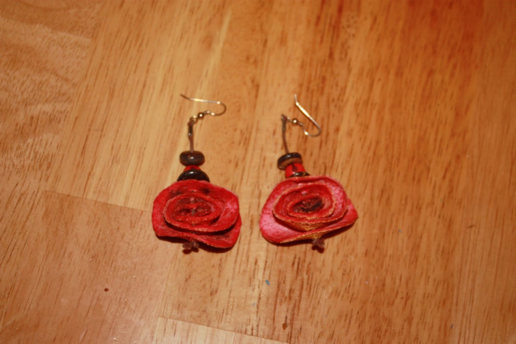orange peel earrings