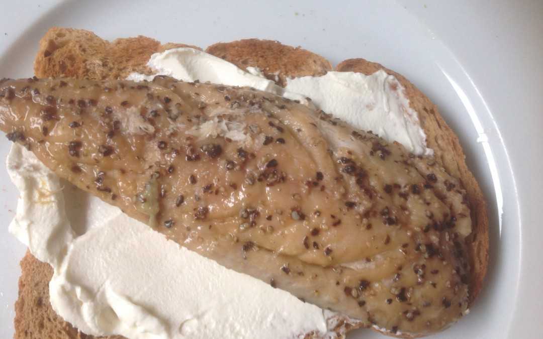 Smoked mackerel & creamy soft cheese on granary toast, 63p. Plus, how to stay on budget for the day