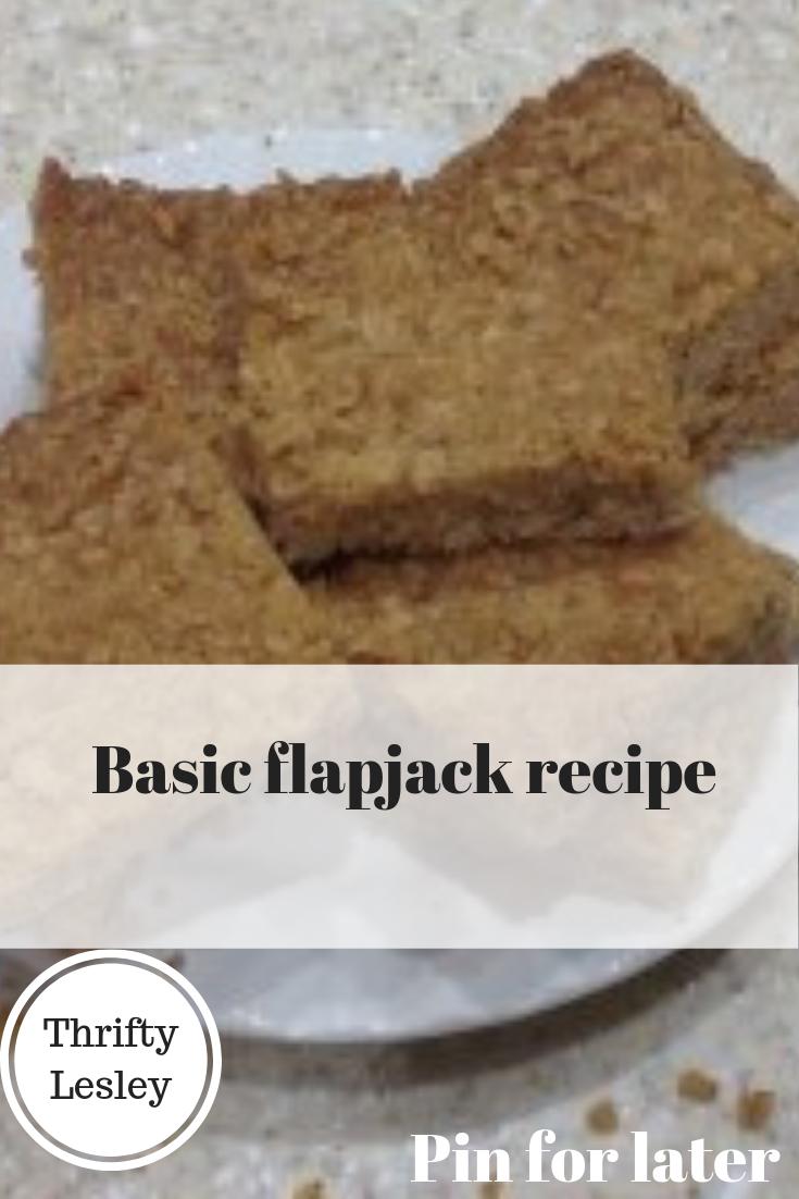 basic flapjack recipe