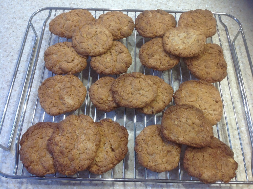 Coffee and walnut biscuits