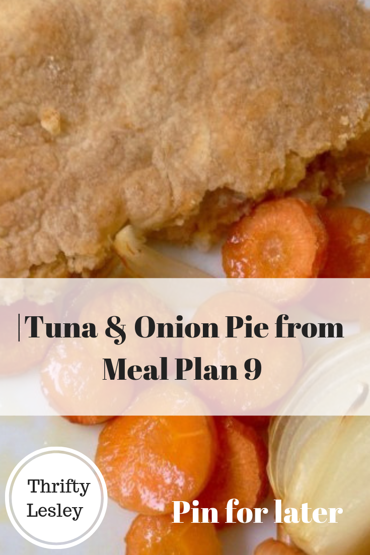 Tuna & Onion Pie from Meal Plan 9