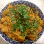 Home grown pumpkin curry, 77p if you buy it all