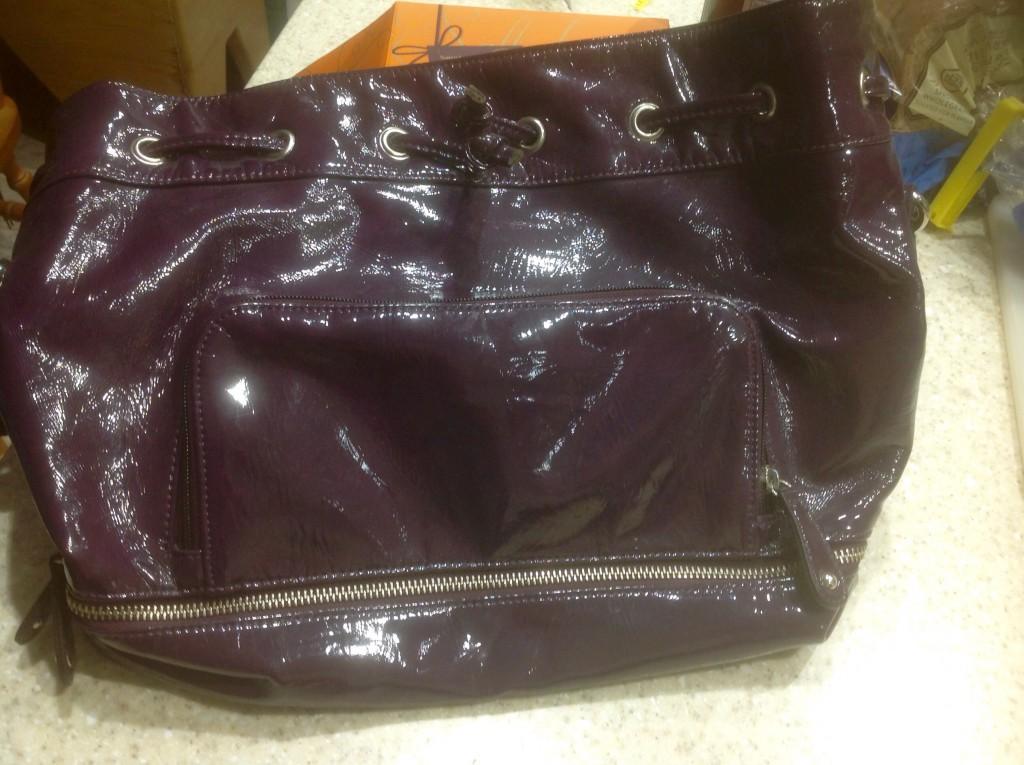 Old purple handbag