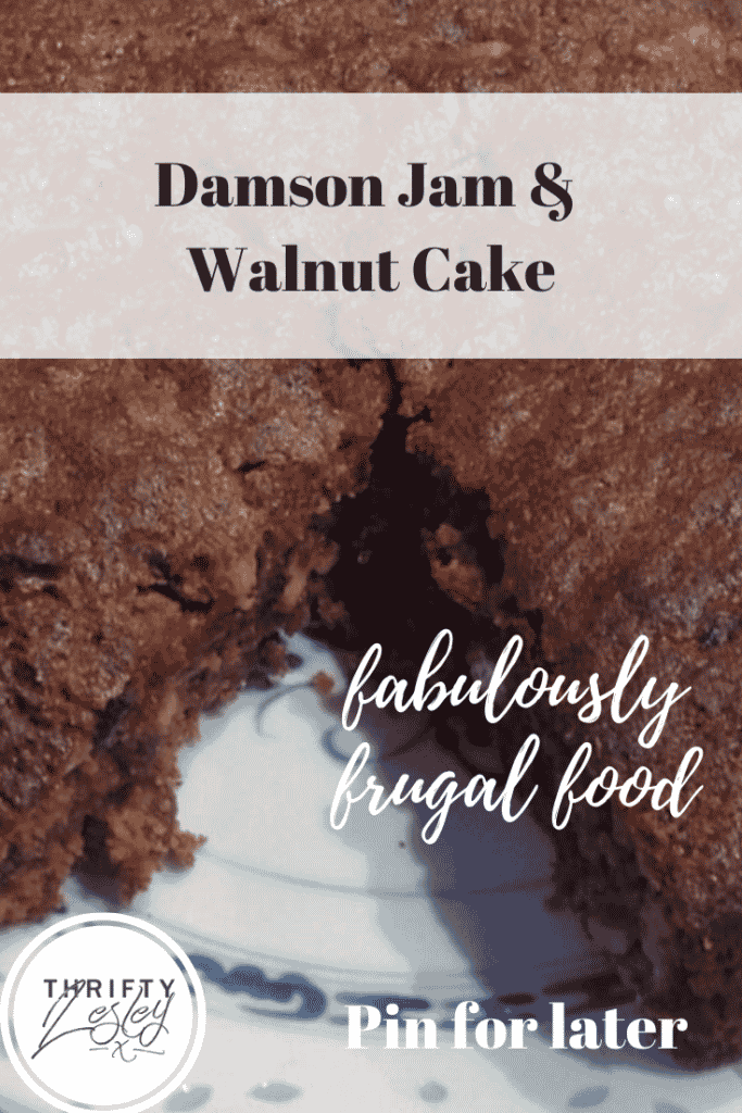 Damson Jam and Walnut Cake