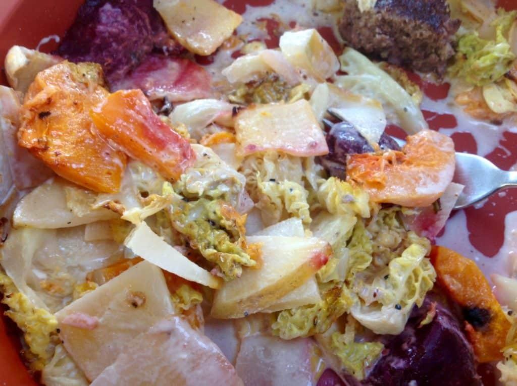 Mixed veg dauphinoise