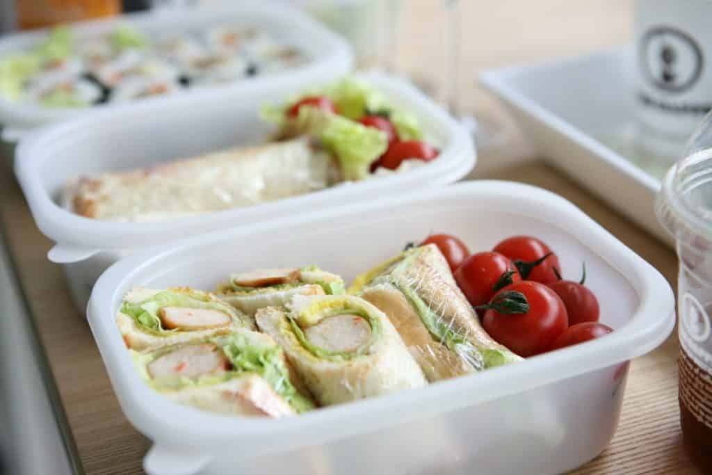 a packed lunch box