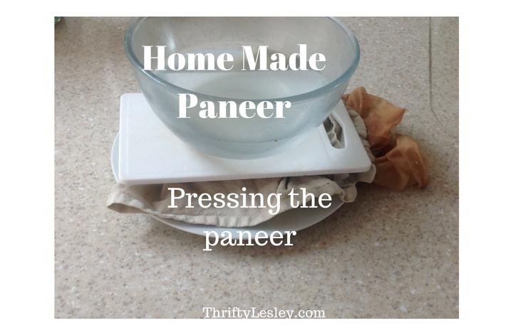 Pressing paneer