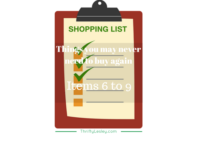 Things You May Never Need To Buy Again. Items 6-9