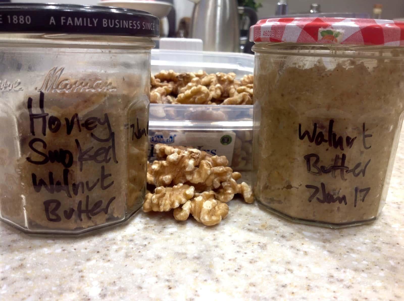 Home made honey smoked walnut butter