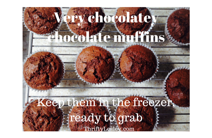Chocolate Muffins. Quick, easy, great for packups and very cheap