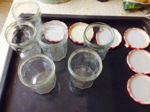 sterilised jam jars