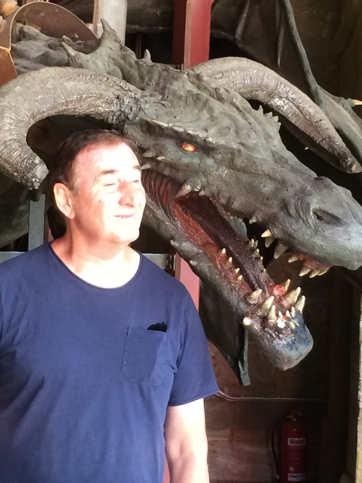 Mike and a dragon