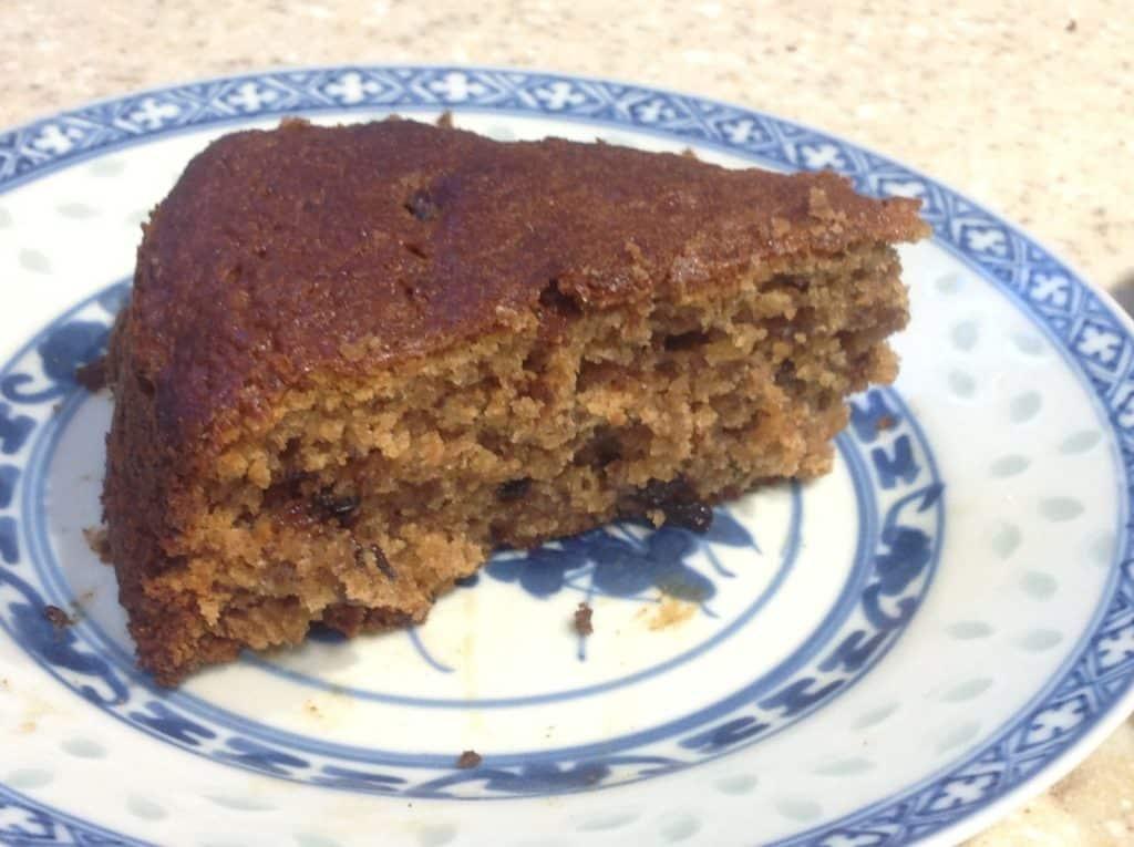 damson and walnut cake