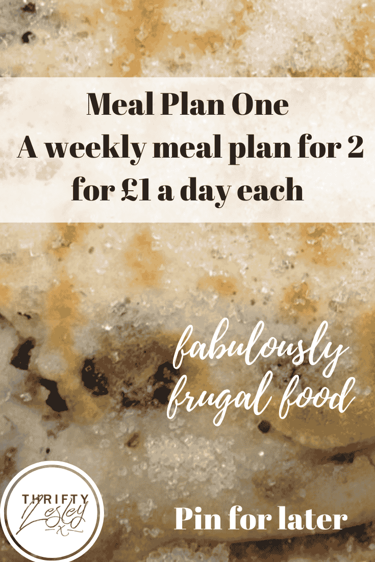 Meal Plan, 7 days of meals, £7