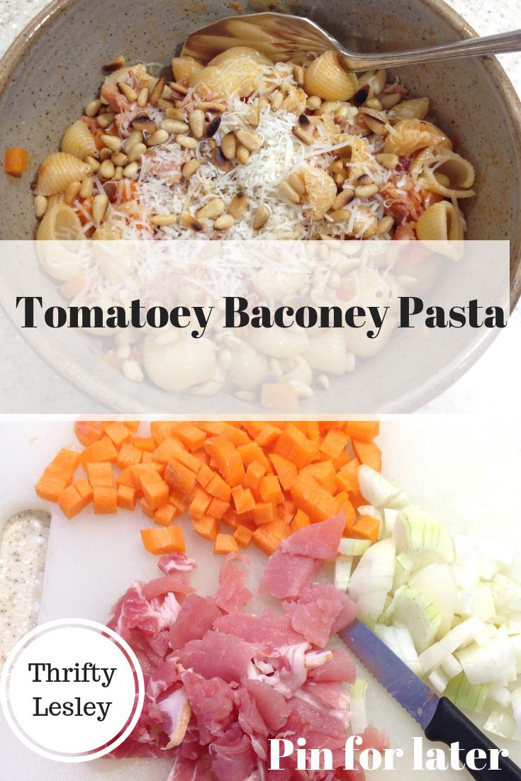 Bacony tomatoey pasta