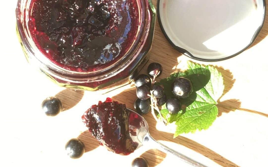 Home made blackcurrant jam