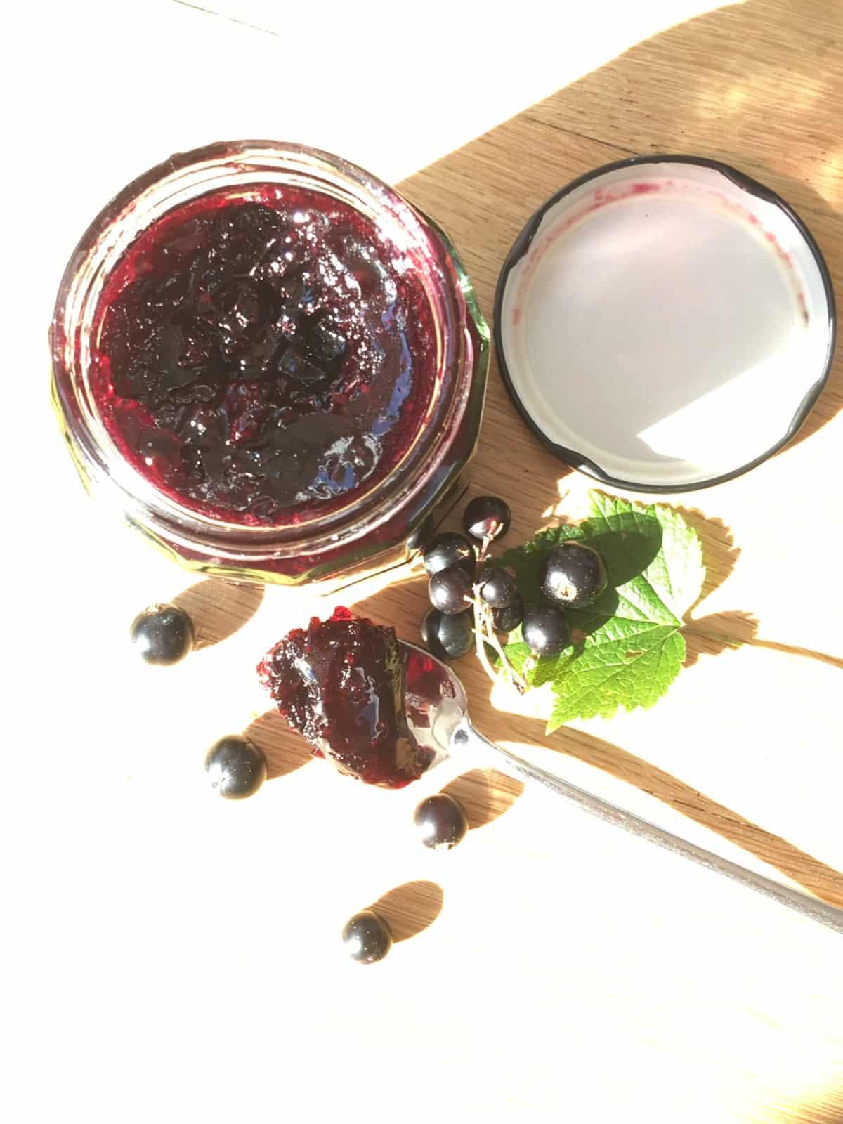 homemade blackcurrant jam