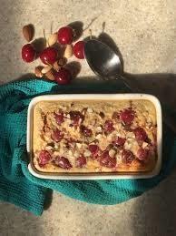 cherry bakewell baked oats