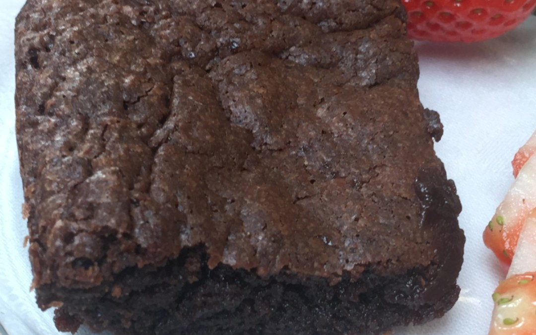 This very simple chocolate brownie recipe makes the best chocolate brownies!