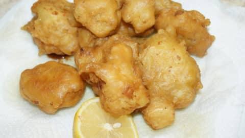 Cauliflower fritters a traditional Greek recipe