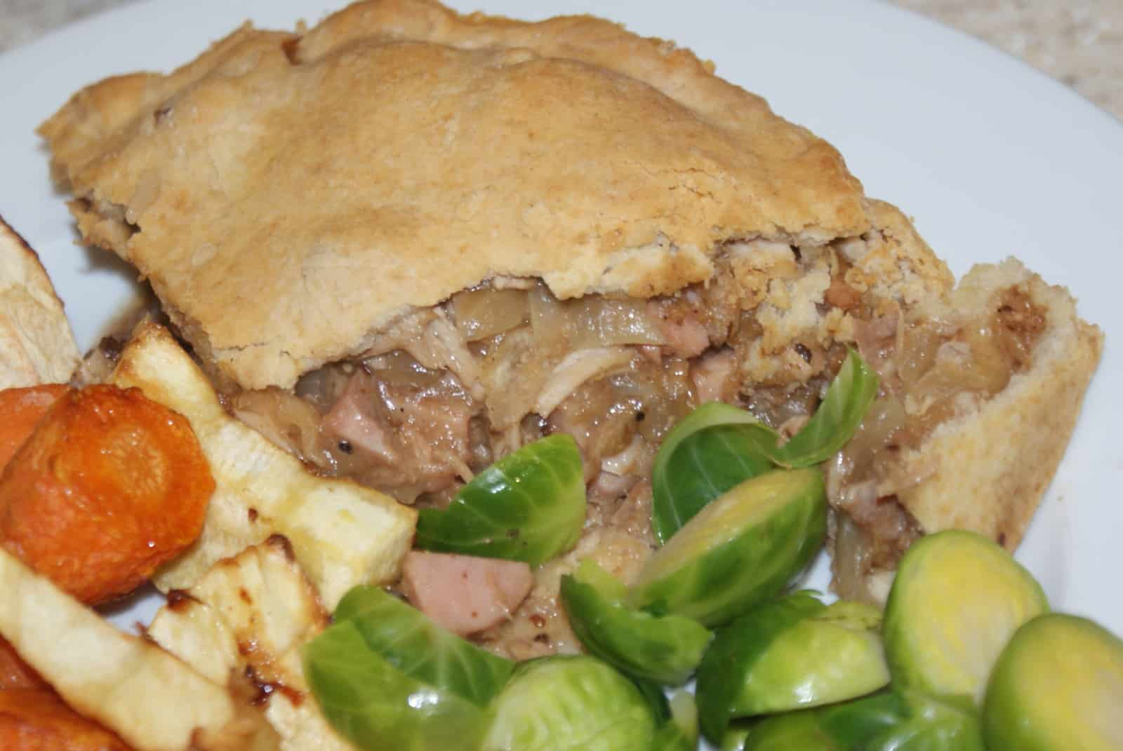 turkey & ham pie