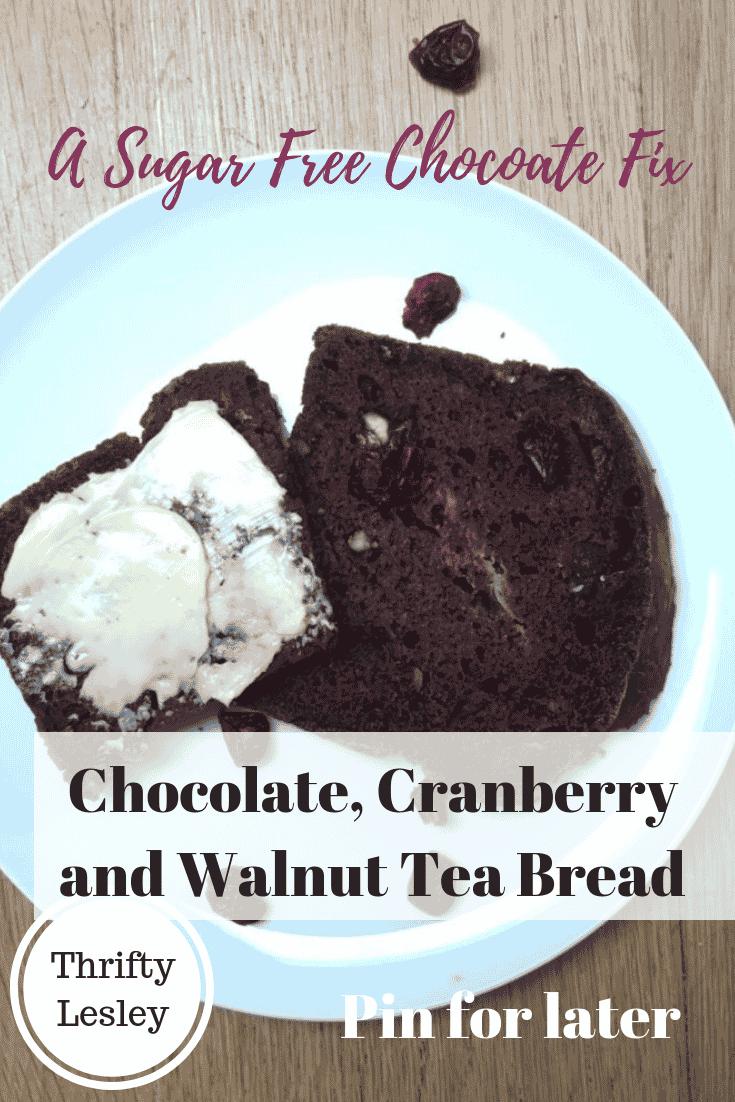 Chocolate, Cranberry & Walnut Tea Bread