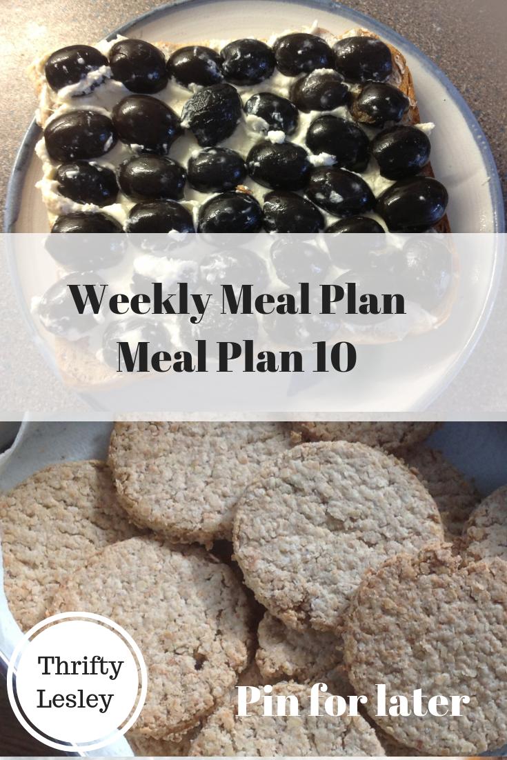 Weekly Meal Plan 10