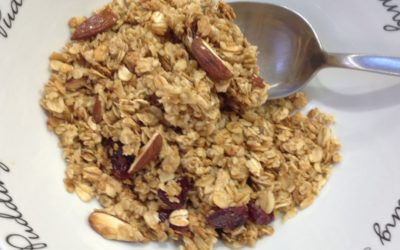 Maple Syrup, Toasted Almond & Cranberry Granola