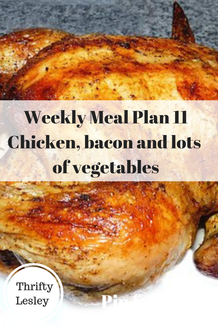 Weekly Meal Plan 11 for extremely cheap meals