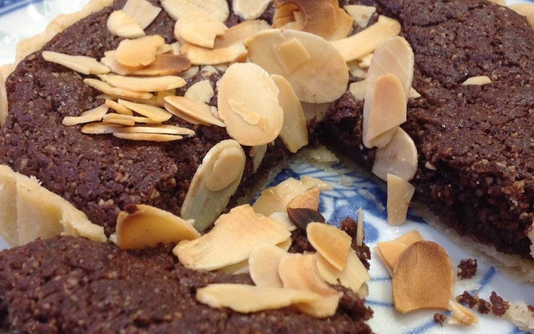 almond nutella tart