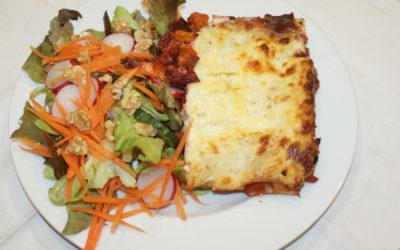 beetroot lasagna - vegetable lasagna