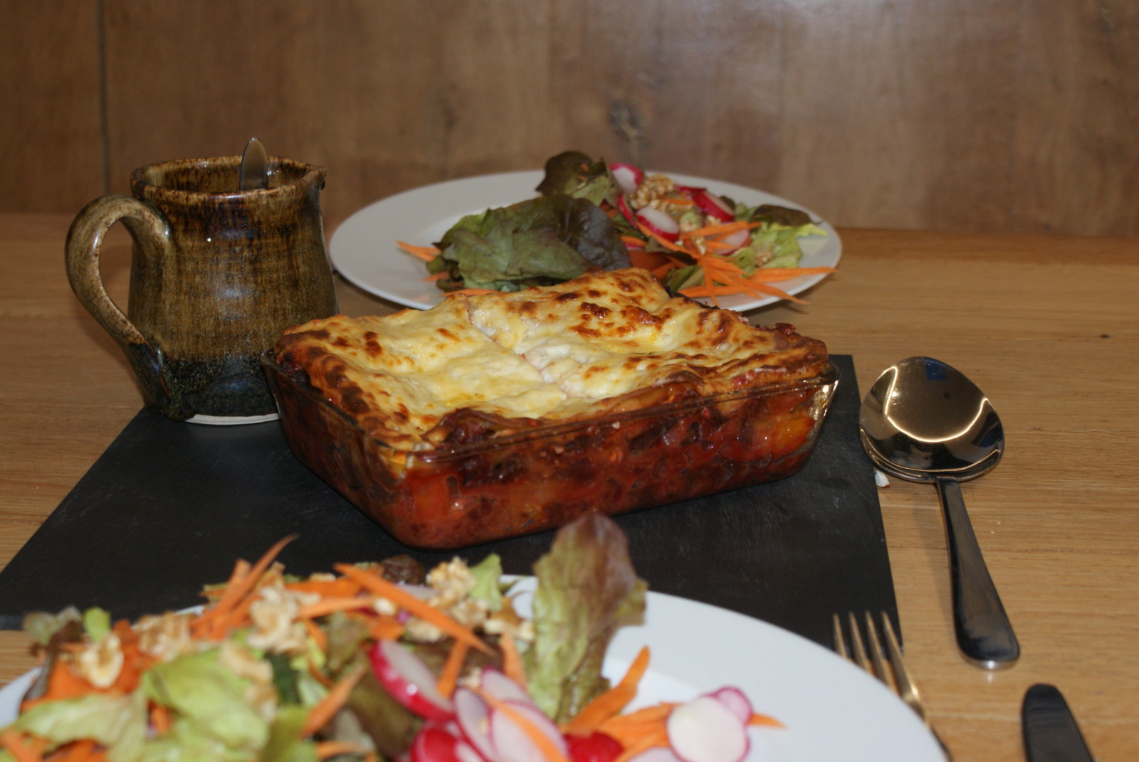 Beetroot ragu lasagna
