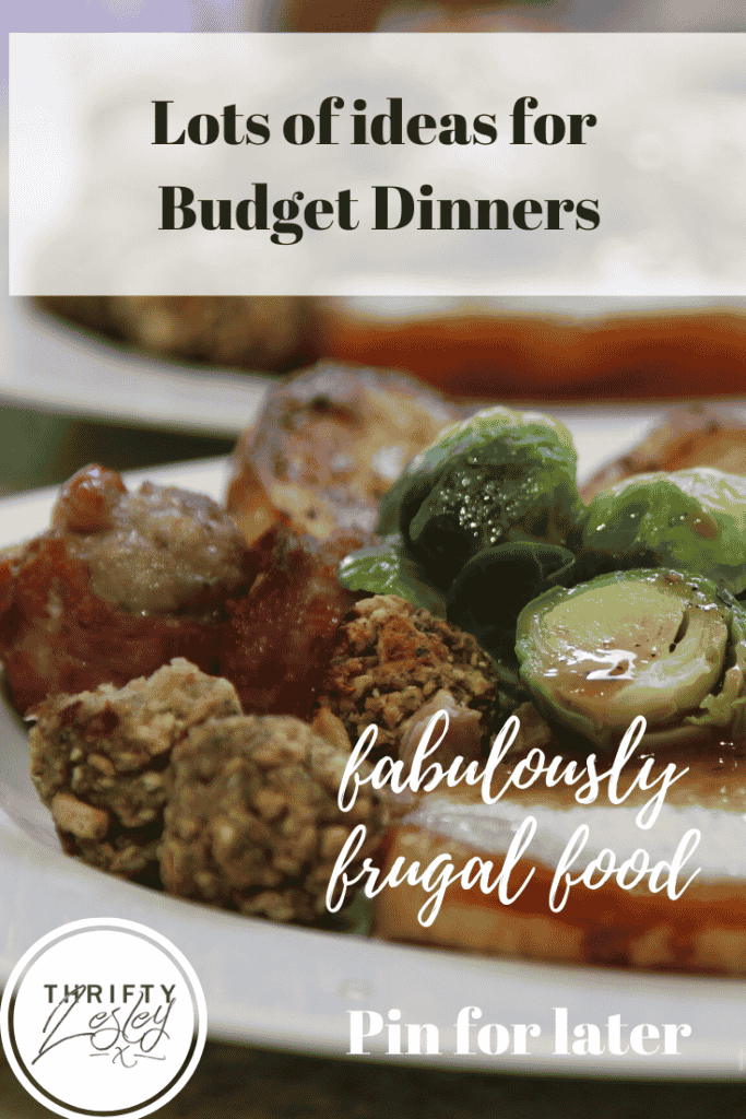 lots of ideas for budget dinners