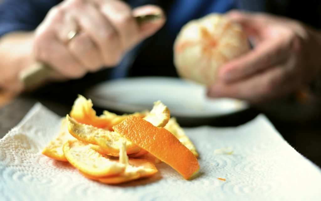 orange peel - leftovers